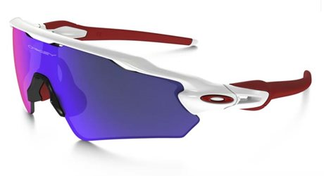 OAKLEY RADAR EV PATH POLISHED WHITE POSITIVE RED IRIDIUM