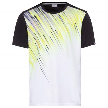 HEAD Slider T-Shirt Men Black/Yellow