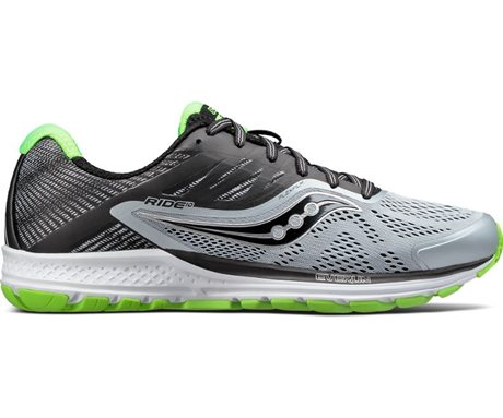 Saucony Ride 10 Grey/Black/Slime