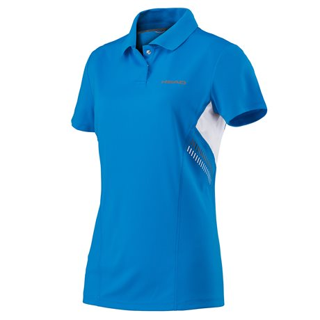HEAD Club Technical Polo Shirt Girl Blue