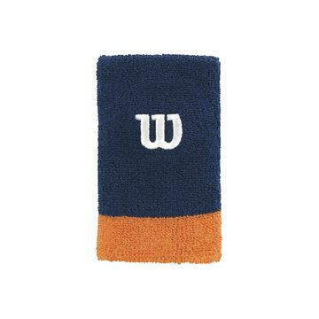 Produkt Wilson Extra Wide Wristband Navy-Orange