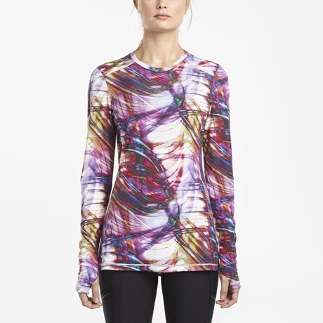 SAUCONY FREEDOM LONG SLEEVE CREW MULTI PRINT