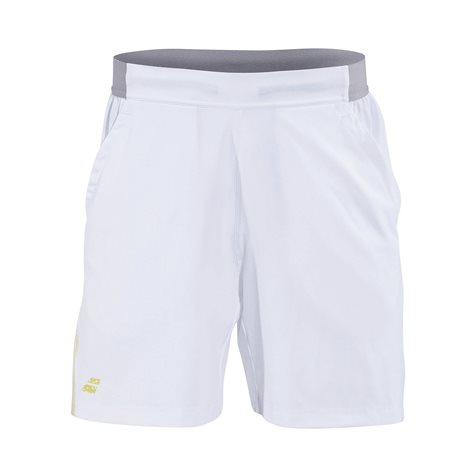 Babolat Performance Men Short 7 White/Dark Yellow