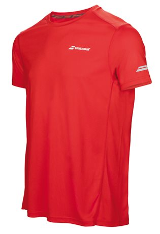 Babolat Flag Tee Boy Core Club Fluo Red