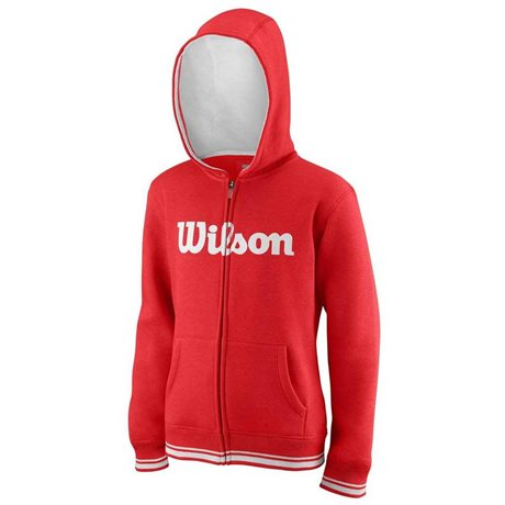 Wilson M Team Script FZ Hoody Red/White