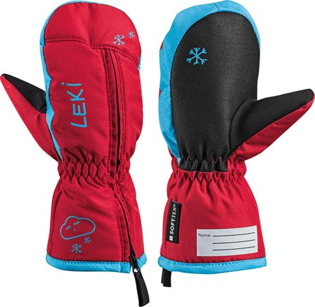Leki Little Snow Mitt red-cyan 643890402 19/20