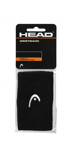 "HEAD Wristband 5"" black"