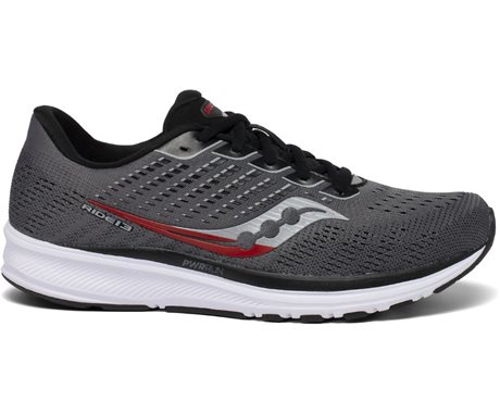 Saucony Ride 13 Charcoal/Red