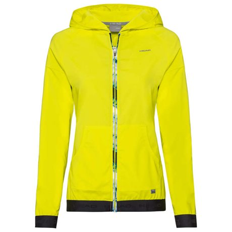 HEAD Baseline Hoodie Full Zip Women Yellow