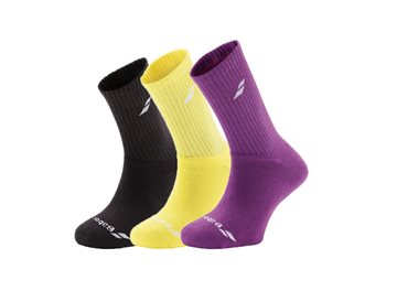 Produkt Babolat Ponožky 3 Pairs Pack Black/Purple/Yellow 2017