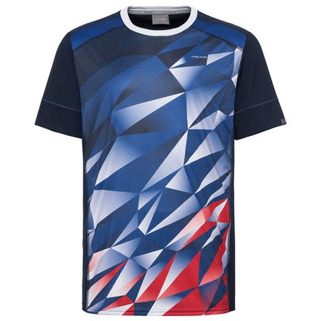 HEAD Medley T-Shirt Boy Royal Blue/Red