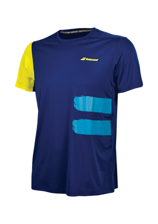 Babolat Performance Men TEE Crew Neck Blue 2018