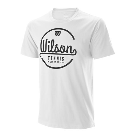 Wilson M Lineage Tech Tee White/Black
