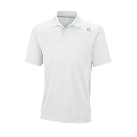 Wilson Knit-Stretch Woven Polo White