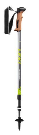 Leki Trail Antishock gunmetal/white/green 110 - 145 cm 65020351 2020