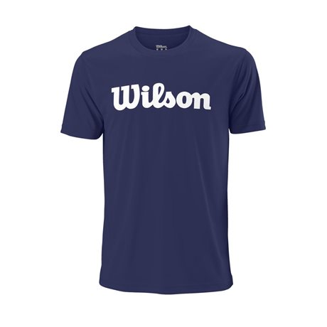 Wilson M UWII Script Tech Tee Blue Depths/White