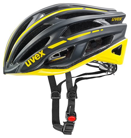 UVEX RACE 5, BLACK MAT/YELLOW