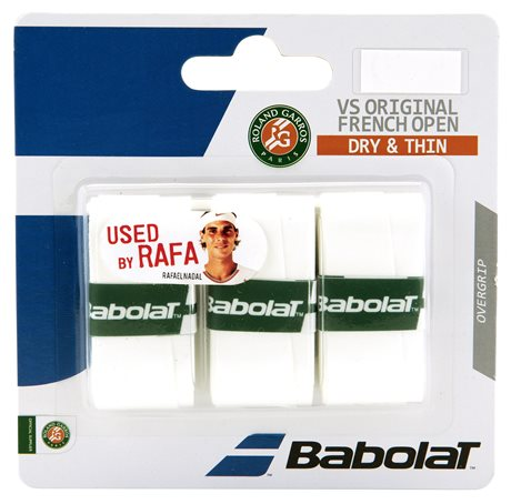 Babolat VS Grip Original French Open 2016 X3 White