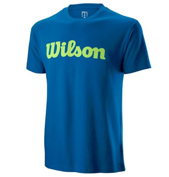 Produkt Wilson M Script Cotton Tee Imperial Blue/Sharp Green
