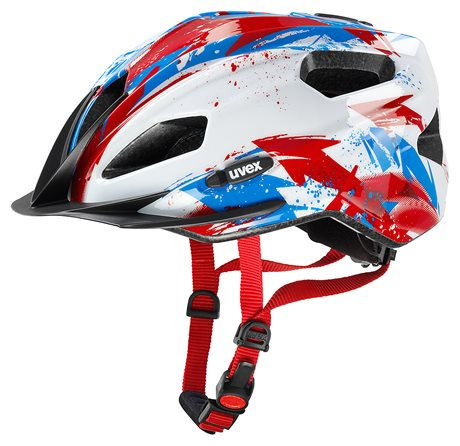 UVEX QUATRO JUNIOR, WHITE-RED